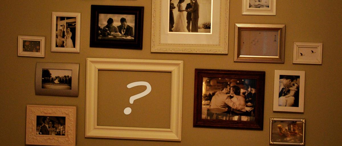 Képek egy falon, emlékek